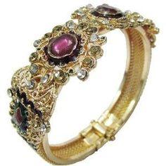 Enamel Kundan 1Pc Bangle Hinged Indian Bracelet Jewelry