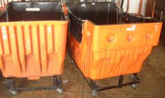 Used plastic hoppers