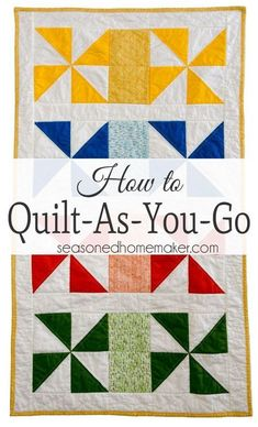 The quilt as you go technique (QAYG) simplifies quilting for beginners because it is an easy way to join quilted pieces by machine. Instead of handling bulky quilts, you will learn to quilt your project as you piece it. Quilt-as-you-go is ideal for machine appliquéd projects and this tutorial walks you through this easy quilting method. Try it out on a simple mug rug project and you'll be hooked.