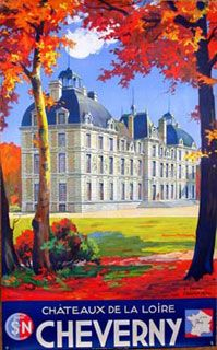 Chateaux de la Loire - Cheverny  1930  Fall in the French countryside anyone?