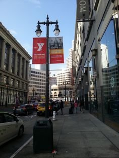 Outdoor advertising project, pole banners