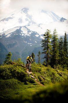 Mountain + bike