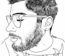 Inspiring image 1d, art, artist, arts, beard, black and white, boy, boys, dibujo, drawing, girls, glasses, grunge, hair, inspiration, love, one direction, outline, painting, perfect, perfection, tumblr, zayn malik #3815090 by kristy_d - Resolution 500x724px - Find the image to your taste