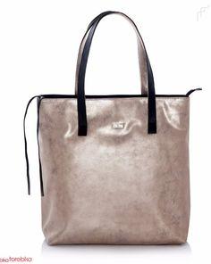 Złota Torebka Shopper Bag Verona