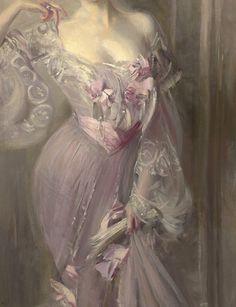 """Portrait of Ena Wertheimer"" (1902) (detail) by Giovanni Boldini (1842-1931)."
