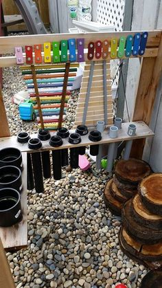 Round-Up: January featured spaces STEM/STEAM idea for Outdoor Classroom Exploration! Free & DIY (via daycare spaces & ideas)STEM/STEAM idea for Outdoor Classroom Exploration! Free & DIY (via daycare spaces & ideas) Outdoor Learning Spaces, Kids Outdoor Play, Outdoor Play Areas, Outdoor Games, Preschool Playground, Backyard Playground, Playground Ideas, Toddler Playground, Preschool Classroom