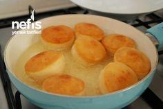 Mayasız Pişi Tarifi (videolu) Snack Recipes, Cooking Recipes, Snacks, Cornbread, Food And Drink, Pizza, Chips, Pudding, Breakfast