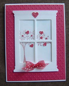 Handmade Valentine Card ~ Panda Bear Roses ~ made w/ Stampin Up & other products Valentine Love Cards, Valentine Crafts, Valentines, Valentine Tree, Window Cards, Heart Cards, Card Kit, Creative Cards, Greeting Cards Handmade