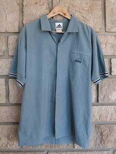 690e01be06 Adidas retro, 90s button up shirt, Vintage sportswear, Old school clothing, Polo  shirt
