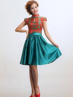 Qipao Dress Pattern | Size Choose an option… 2 4 6 8 10 12