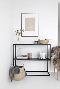 Minimal shelf styling