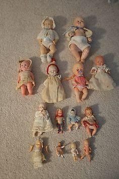 Grandma had a bunch of tiny dolls.  I wonder what happened to them....