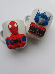 Spiderman Optimus Prime polymer clay