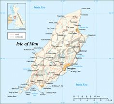 The Isle of Man is situated in the middle of the Irish Sea at the centre of the British Isles. It is 33 miles (53km) long and 13 miles (22km) wide at its broadest point, with a resident population of 84,500.