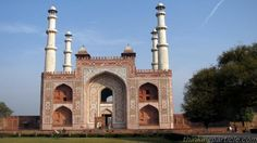 This is the tomb is Jalaluddin Muhammad Akbar, son of Humayum and grandson of Babar who was the greatest king of the Mughal Dynasty. He ruled from 1556 to 1605. He founded a vast empire which extended from Kabul to Assam and from Kashmir to Ahmednagar.