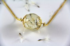 Dandelion Wish Necklace  Dandelion Jewelry  Good by JasmineThyme