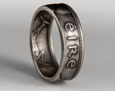 Irish 2 Pingin Coin Ring by TheRingTree on Etsy