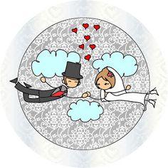Imprimibles gratis para bodas de novios con globos y corazones. | Ideas y material gratis para fiestas y celebraciones Oh My Fiesta!