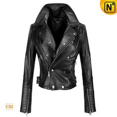Leather Cool Jackets Autumn Women's Slim Leather Jacket CW661002 $498.57 - www.cwmwalls.com