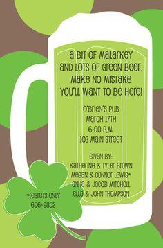 Green Beer Invitations