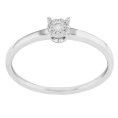 "Bliss by Damiani ""Illusion"" 18k White Gold & 0.08 Cttw Diamonds Engagement Ring"