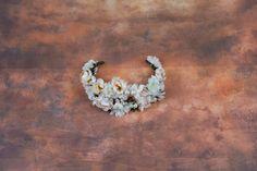 Floral Half Wreath flower head wreath by MagaelaAccessories