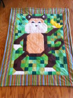 Monkey quilt for baby