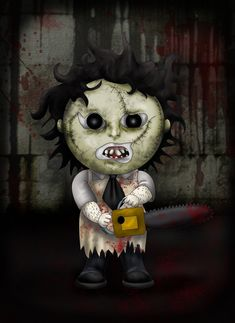Several people has suggested that I should make more of these, so here you go.. BEHOLD! Leatherface Jr! More murderers: