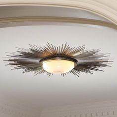 Sunburst Ceiling Light Fixture – Nickel