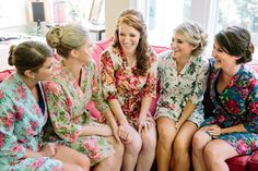 Southern wedding - getting ready robes
