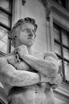 """There was a meme once that said, """"Well if all Greek Statues are just the people Medusa looked at."""" I loved it a lot, and used this idea for it! just a regular stone statue of a man, but what if he's one Medusa looked at? Ancient Greek Sculpture, Greek Statues, Roman Sculpture, Metal Sculptures, Abstract Sculpture, Wood Sculpture, Bronze Sculpture, Sculpture Rodin, Poses References"""