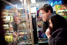 Arcade couple photo! Love this idea? Please visit www.a-aweddings.com to see our…