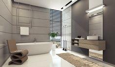decoración preciosa en el baño moderno