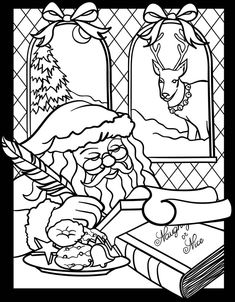 949 Best Coloring Christmas Winter Images In 2019 Coloring Pages