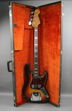1966 VINTAGE FENDER JAZZ BASS GUITAR SUNBURST USA ORIGINAL 1 OWNER OHSC PLAYER