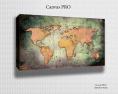 World Map Canvas Print Digital printed Canvas to by TheCanvasPros, $6.95
