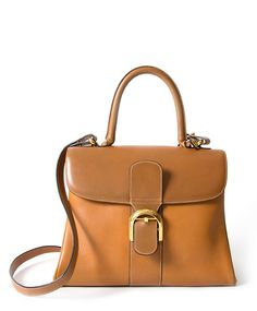 Delvaux Brillant Bicolor Cognac MM GHW Buy authentic secondhand Delvaux bags  at the right price at 059f05b3a5ad4