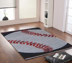 baseball rug perfect for my boys sports room Baseball Crafts, Baseball Star, Baseball Boys, Boys Baseball Bedroom, Baseball Decorations, Baseball Snacks, Baseball Memes, Baseball Girlfriend, Baseball Party