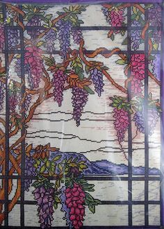 Stitch World Counted Cross Stitch Kit Wisteria Window 03-158K Janlynn 1996 #Janlynn #Sampler