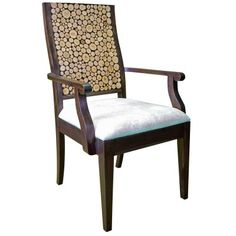 Love the back of this chair! Found it at Wayfair - Chris Bruning Nobleman's Arm Chair Western Furniture, Rustic Furniture, Outdoor Furniture, Side Chairs, Dining Chairs, Dining Room, Outdoor Chairs, Outdoor Decor, Humble Abode