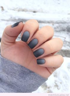 Grey ombre nails idea