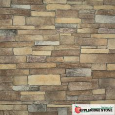 """Appleridge Stone - Stone Veneer: Textured Ledgestone - Similar to our standard Ledgestone pattern, the pattern consists of stones with more depth and dimension.  Largest Stone 4"""" x 14.5"""" Smallest Stones 1"""" x 6"""" and 2"""" x 4.5"""" (Shown in Cranapple color)"""