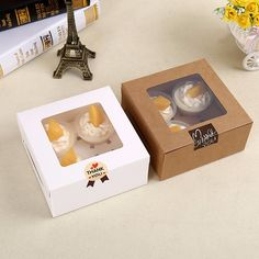 Cheap cupcake box, Buy Quality box cupcake directly from China clear cupcake box Suppliers: Cavity Clear Window Creative Kraft Brown & White Cupcake Boxes Muffin Packaging Box 4 in 1 cake winodow box Baking Packaging, Dessert Packaging, Cupcake Packaging, Pretty Packaging, Cupcake Boxes, Box Cake, Cheap Gift Bags, Bakery Box, White Cupcakes