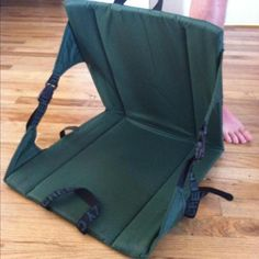 Crazy Creek Camping Chair. I love sitting around the campfire, but after a long day of outdoor fun, a log just won't cut it...I need back support!  With a very sensitive back, my Crazy Creek is my best friend. Super light weight. Great for backpacking or even just relaxing in the park with a good book! Learn more at http://www.tiotil.com/content/crazy-creek-camping-chair