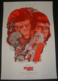 Martin Ansin Planet of the Apes Sideshow Variant Print Poster Mint Condition