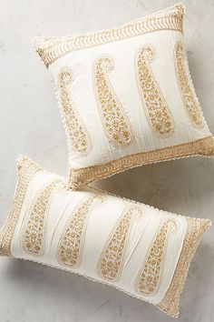 Find the bedding of your dreams at Anthropologie. Shop unique bohemian bedding, textured and feminine styles. Pillow Fabric, Pillow Room, Couch Pillows, Couches, Bohemian Bedding, Printed Cushions, Cozy Bed, Paisley Print, Decorative Accessories