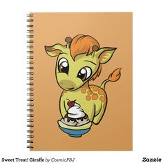 Sweet Treat! Giraffe Spiral Notebook