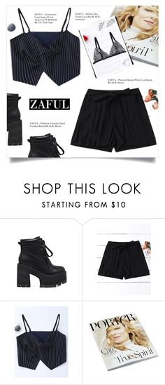 """PLEATED SHORTS"" by larissa-takahassi ❤ liked on Polyvore"