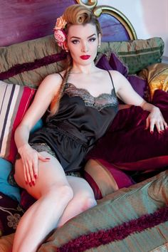 Playful Promises Penelope Gold and Black Lace Teddy 180 10 15342 20150521 0003W