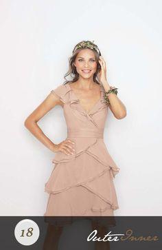 Sleeveless A-line Chiffon Cowl Short Bridesmaid Dress Style Code: 05279